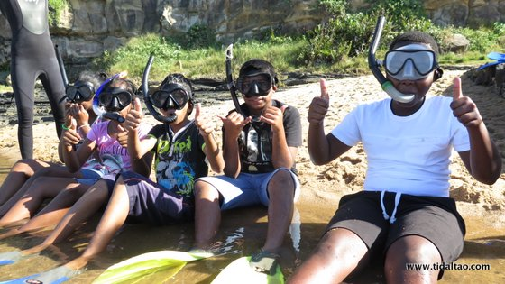 first time snorkeling children